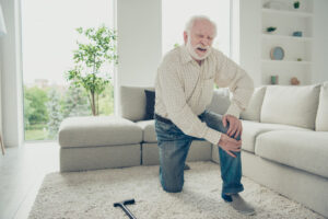 Arthrose du genou et canne