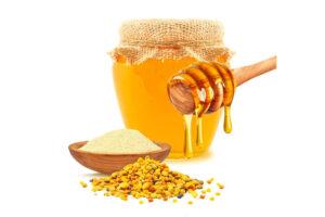 Ingrédients naturels miel et gelée royale