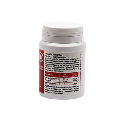 Ainat ingrédients naturels : harpagophytum, bromélaïne et curcuma