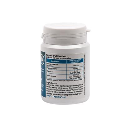 Cuivramine ingrédients naturels : glucosamine, gingembre, vitamine C et sulfate de cuivre