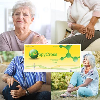 Happycross Acide hyaluronique arthrose du épaule, genou, hanche, cheville