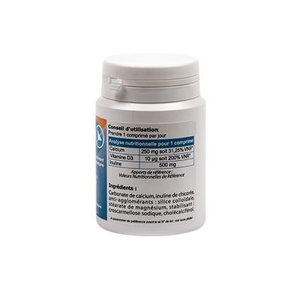 Calcium, vitamine D3, Inuline pour la vitalité de vos os